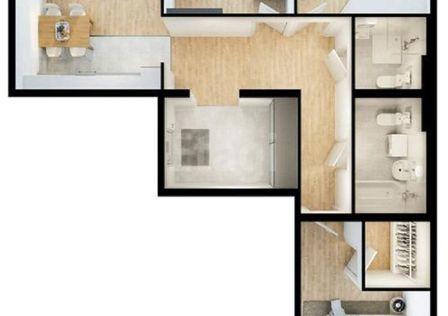 Продаётся 3-комнатная квартира, 93.4 м²