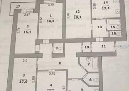 Продаётся 5-комнатная квартира, 154 м²