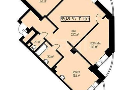 Продаётся студия, 96.9 м²